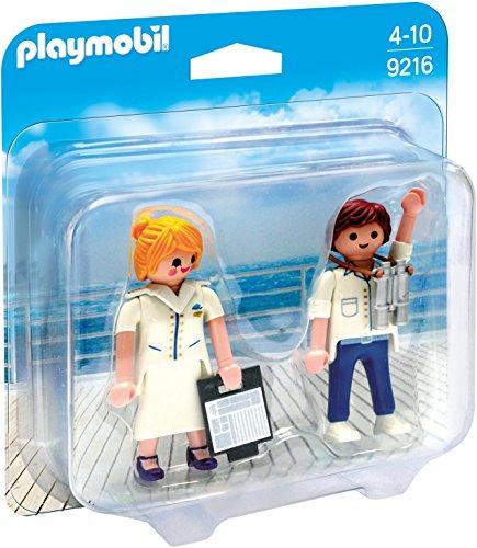 Playmobil Duo Pack-9216 Azafata y Piloto