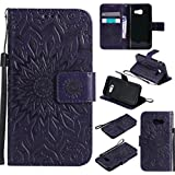 PQ-Mall Coque Pour Samsung A5 2017, Luxe Portefeuille Etui Housse Samsung Galaxy A5 2017 Violet