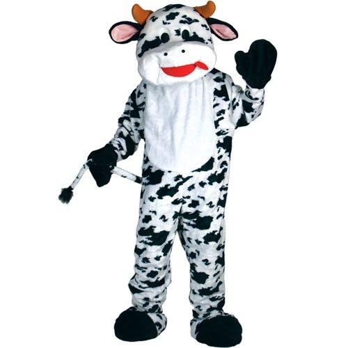 Riesige Kuh Maskottchen Halloween Verkleidung Fasching Karneval Tier Kostüm (Kuh Maskottchen Kostüme)
