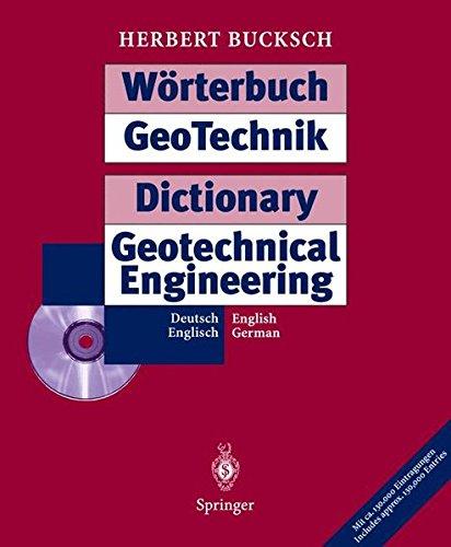 Geotechnik Wörterbuch. Deutsch / Englisch. CD- ROM für Windows 3.x/95/97. Mit 130.000 Einträgen
