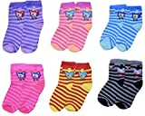 Baby Boy's and Baby Girl's Fleece and Cotton Socks (4-5 Years) -6 Pairs