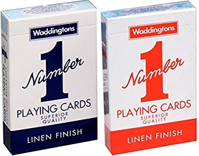 Pair of Waddingtons No. 1 Playing Cards (1 red, 1 blue) : everything £5 (or less!)