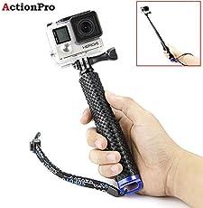 Action Pro Adjustable Hand Grip Extension Stick, Monopod for GeekPro/GoPro HD Hero 6 5 4 3+ 3 2 1, AKASO, SJCAM SJ4000 SJ5000 Xiaomi Yi,19-inch(Black)