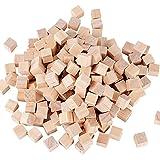 200 Stück Holz Würfel 10mm Holzwürfel Blanko Deko Holz Basteln Bastelmaterial Holz Quadrat Würfel Natur Deko zum DIY Basteln Malen DIY Handwerk Dekoration