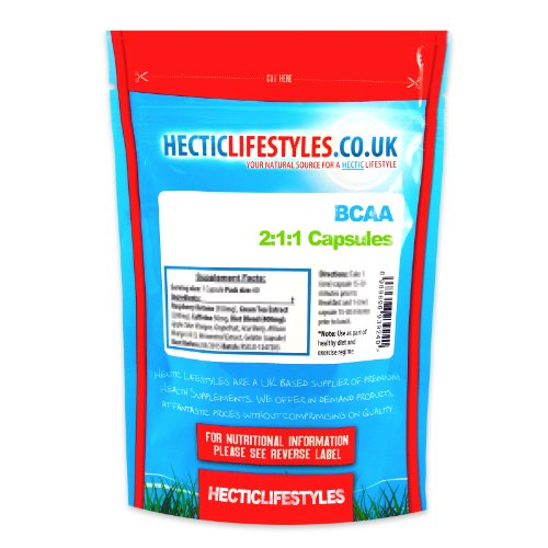 51nAszot7bL. SS500  - Hectic Sports Branched Chain Amino Acid Capsules, 120-Count