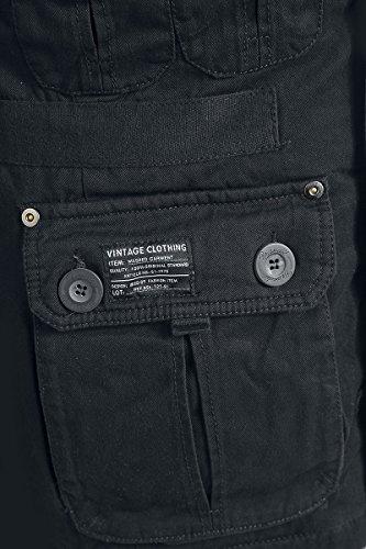 Brandit Platinum Vintage Winterjacke schwarz Schwarz