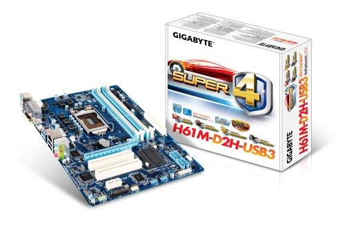 GigaByte GA-H61M-D2H-USB3 Mainboard Sockel 1155 (Micro-ATX, Intel H61, DDR3 Speicher, 2X USB 3.0) -