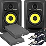 KRK Rokit RP5 G3 Active Studio Monitors Kit - Cables and Isolation Pads Included
