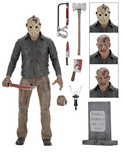 8e42eda76eb4 Neca 39716 Action Figure 7 Inch Ultimate Jason Voorhees (Friday the 13th:  Part 4
