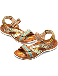 a4441309babf8 gracosy Sandalias Cuero Verano Mujer Estilo Bohemia Chanclas Zapatos para  Mujer de Dedo Sandalias Talla Grande