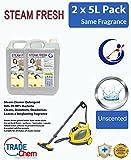 2x 5L Dampf Reinigungsmittel Lösung für alle Maschinen–Dampfreiniger Fluid INC Vax–Duft Frei