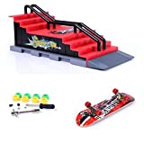 Mini Finger Skateboard and Ramp Accessories Set (F)