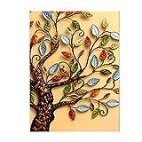 """Kit per quadro 5D con albero e foglie, con strass per ricamo """"diamond painting"""", da parete, per la casa, 50 x 30 cm"""