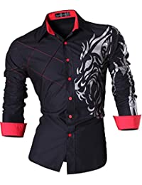 Sportrendy Homme Chemises Casual Manches Longues Mode Men Slim Fit Long Sleeves Dress Shirt Tops MFN2_JZS041