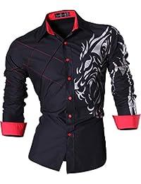 7d13202b8a0a Sportrendy Herren Freizeit Hemden Slim Button Down Long Sleeves Dress Shirts  Tops JZS041