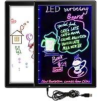 Tableta de Escritura LCD, 15 Inch Tablero de Mensaje & Tablero de Dibujo, Electrónico Memo Pad con Efecto Fluorescente y Pluma Borrable, Equipado con Soportes Ajustables, Regalos para Niños