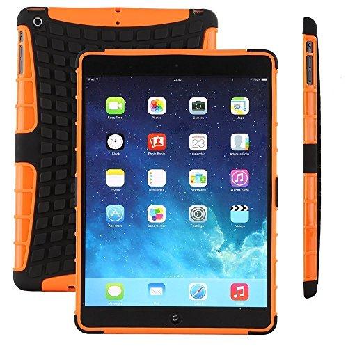 Accessory Master Stoßfest hard Hybrid Silikon Hülle Tasche Schutzhülle Case Cover für Apple ipad 2, 3 Orange Orange Hard Case