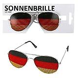 Lunettes de pilote–Lunettes de soleil l'Allemagne–Party Lunettes aux couleurs de l'Allemagne