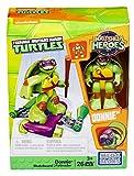 Mega Bloks dmw40-Statuetta di Giocattolo Teenage Mutant Ninja Turtles Donnie con Skateboard