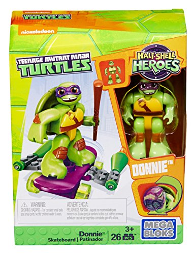 (Mega Bloks - Teenage Mutant Ninja Turtles Half Shell Heroes - Donnie Skateboard (Dmw40))