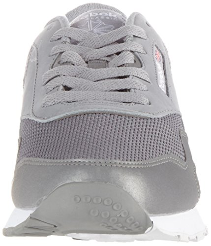 Reebok Herren Classic Nylon Tech Mix Sneaker Grau (Grey/ White/ Steel)