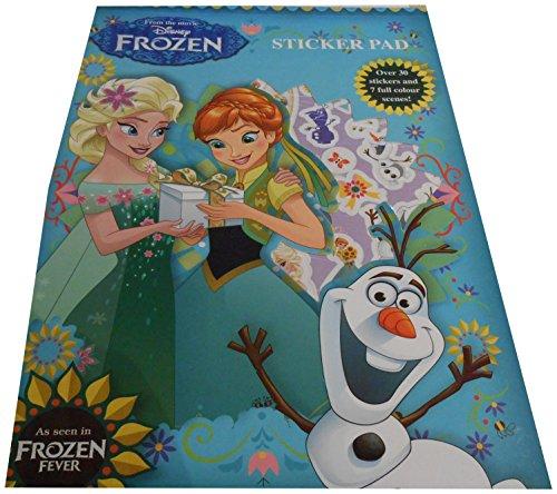 Anker Disney Frozen Fever Sticker-Block mit über 30Aufklebern und 7Farb-Szenen mit Elsa Anna, Olaf und weiteren