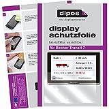 dipos I 3X Schutzfolie klar passend für Becker Transit 7 Folie Displayschutzfolie