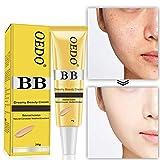 Flüssige Foundation Concealer BB Creme, Sweatproof Feuchtigkeitsspendende wasserdichte Concealer/Isolation / Whitening/Bright Lasting Blemish Balm Coverage Make-up Basis