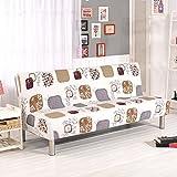 Copridivani con stampe floreali per divani/divani letti senza braccioli, in tessuto elasticizzato di poliestere B