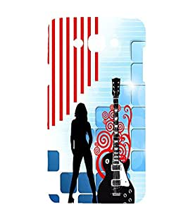 printtech Guitar Girl Design Back Case Cover for Samsung Galaxy J7 (J7 6 / Samsung Galaxy J7(2017 EDITION )