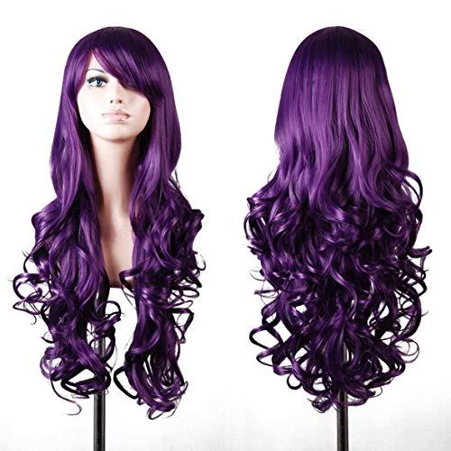Karneval Erwachsenen Perücke - Wellenförmige Perücke gewellt Langes Haar Wig