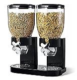 Doppia cereali Dispenser Cibo secco bianco / nero di plastica scatola metallica Fresh & Easy (nero)
