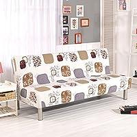 iBaste Funda de Sofá Impreso para Sofas Protector Plegable Sofa Cama Slipcover Sin Apoyabrazos Fundas de Clic-clac Elástica