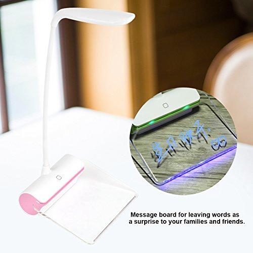 Tischleuchte dimmbar LED, Cute Schutz Glanz-Header-Lampen Touch Sensor Tisch, Schlafzimmer Lampe, Leselampe, Akku-Licht Baby-Buch, Nacht...