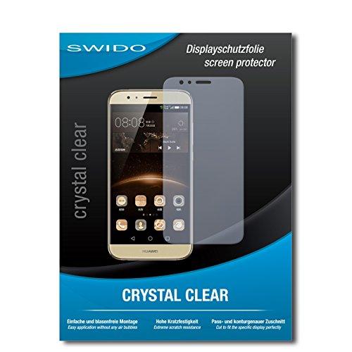 SWIDO Bildschirmschutz für Huawei G8 [4 Stück] Kristall-Klar, Hoher Härtegrad, Schutz vor Öl, Staub & Kratzer/Schutzfolie, Bildschirmschutzfolie, Panzerglas Folie