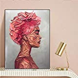 RTCKF Acuarela Abstracta Flor Pintura al óleo Lienzo en el Cartel de la Pared de la Sala de Estar. Impresión Moderna de la Imagen de la Flor del Arte de la Pared (sin Marco) A4 20x30CM
