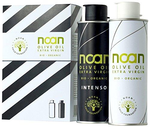 Noan Bio Olivenöl Duo-Pack, Intenso plus Pure im Geschenkkarton, 1er Pack (1 x 500 ml) (Thunfisch-oliven-öl)