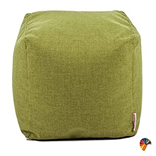 Arketicom SOFT CUBE Footstool Bean Bag Polyester Bead REMOVE COVER 42x42 lime