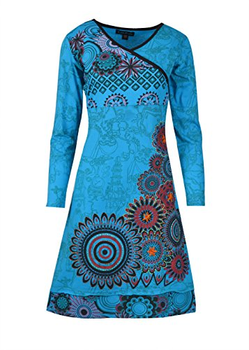 With Over Long All Tattopani Blem Sleeve And Dress Women's Floral Print Embroiderylmn6022 zMpqSVUG