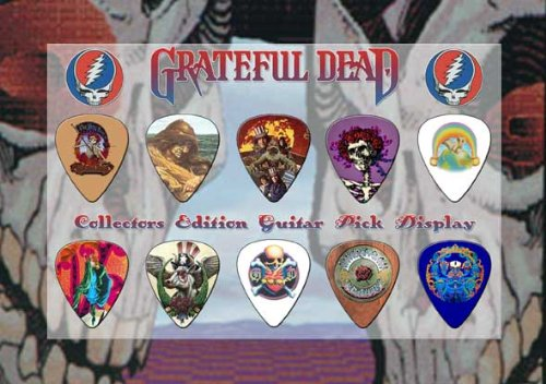Bedruckte Plektren Company Grateful Dead Premium Celluloid Guitar Plektron Display A5 (Gitarren Pick Grateful Dead)