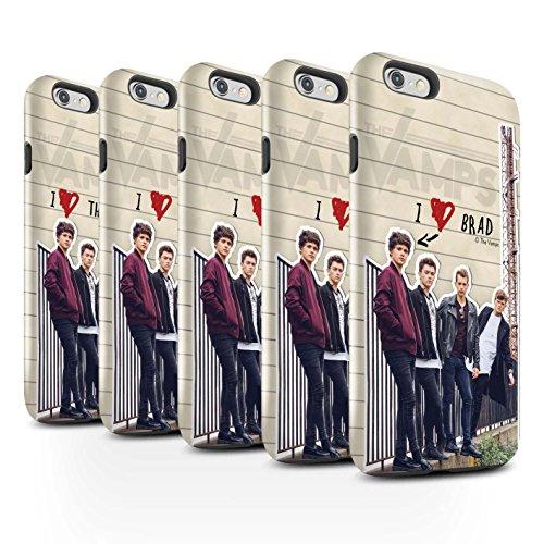 Officiel The Vamps Coque / Brillant Robuste Antichoc Etui pour Apple iPhone 6S / Pack 5pcs Design / The Vamps Journal Secret Collection Pack 5pcs