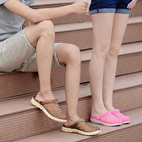 Geléia Unisex Chinelos Marrons Jardim Sommerloch De Masculino Sandálias Meio Sapatos Eastlion Alguns tqAHaw