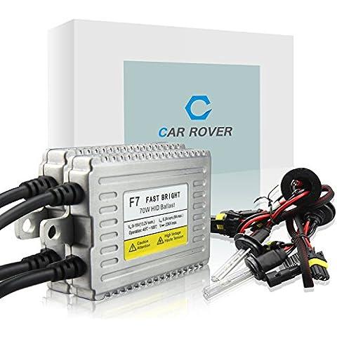 Car Rover® 70W H1 Xenon HID Kit di Conversione con Fast Luminosa Zavorra Lampada del Faro 12000K
