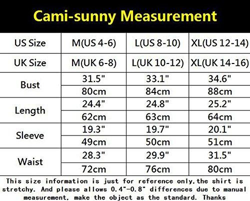 Cami-sunny Blouse Damen Blusenbody Lamarmshirt, Einfarbig Large Grün