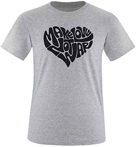 EZYshirt® Make love not war Herren Rundhals T-Shirt Grau/Schwarz