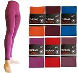 Damen Thermo Legging, Farben alle:bordeaux;Größe:42/44