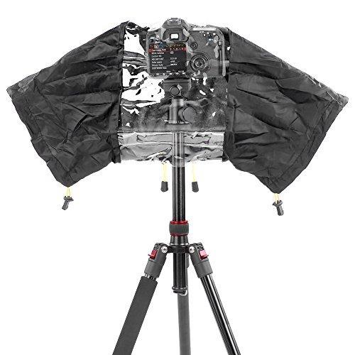 Neewer -  Protector antilluvia impermeable de cámara para Canon, Nikon, Sony, Pentax, Olympus, Fuji y otra cámara réflex Digital y lente hasta 200mm de longitud / como Canon EOS 700D 650D 600D 550D 1100D 1000D 60D 50D 7D 5D Nikon D7100 D7000 D5200 D5100 D5000 D3200 D3100 D810