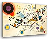 Degona Quadro Moderno Kandinsky Composizione VIII - Vari Formati Stampa su Tela Canvas Arredamento Arte Arredo Astratto (cm 100x70)