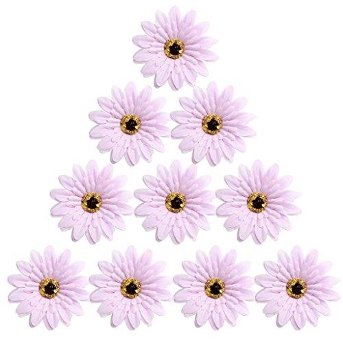 Sharplace 100er Kunstseide Kunstblumen Blütenköpfe Hochzeit Partydeko Wohnaccessoires - helles Lila