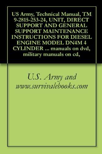 US Army, Technical Manual, TM 9-2815-253-24, UNIT, DIRECT SUPPORT AND GENERAL SUPPORT MAINTENANCE INSTRUCTIONS FOR DIESEL ENGINE MODEL DN4M 4 CYLINDER ... military manuals on cd, (English Edition)